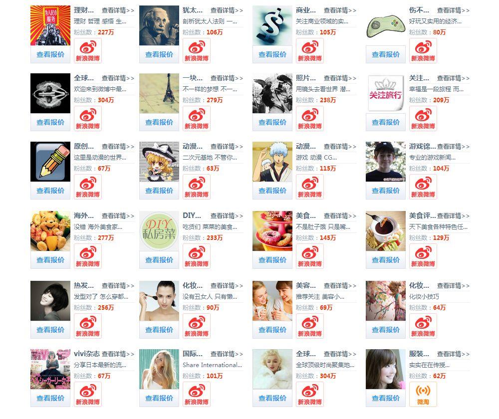 芸能人、有名人、媒体等Weibo(ウェイボー)公式アカウントとして活用する場面が多い