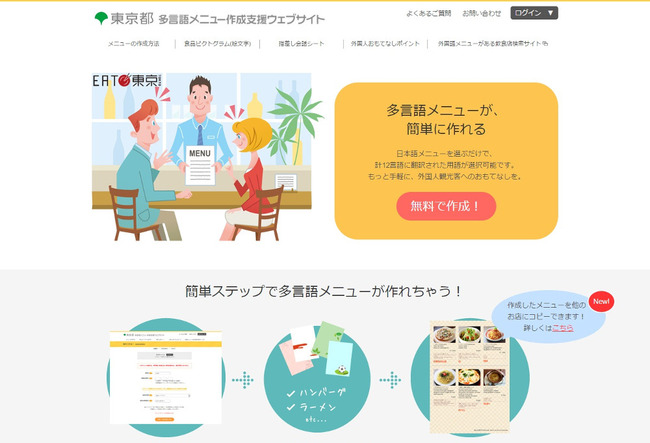 東京都の中小の飲食店補助制度