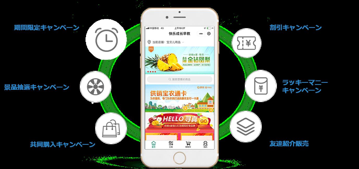 集客に活用できるWeChatミニプログラムの機能開発